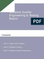 Software Quality Engineering & Testing Basics