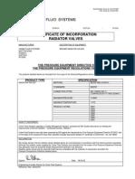 Certificate of Incorporation Radiator Valves