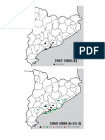 Expansió territorial de les colles castelleres, 1968-2013