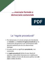 Democrazia formale e Sostanziale