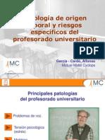 Patologia de Origen Laboral