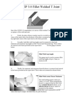 CSWIP 3.0 Practical Fillet Welded T Joint Instruction Sheet