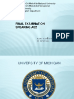 University of Michigan FINAL EXAM