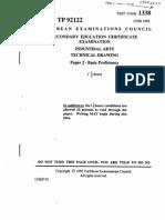 CSEC Technical Drawing June 1992 P2 - Basic Proficiency