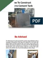 Ferro Cement Water Tank
