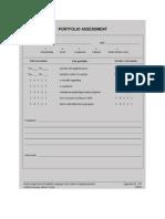 portfolio assessment form