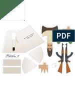 Blog Paper Toy Papertoy Bin Laden Template