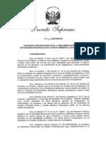 2.2 DS N° 023-2009 Implementación de ECAS