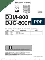 Pioneer DJM800 Mix Servive Manual
