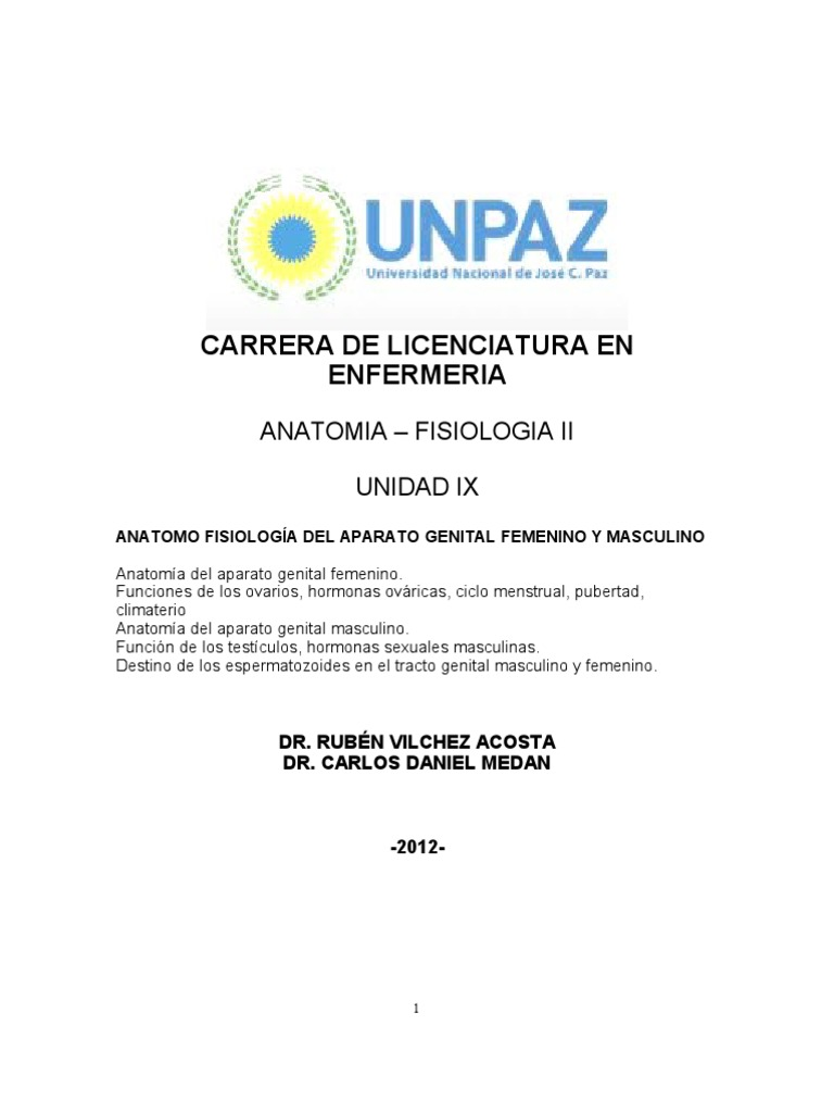 UNIDAD IX. Aparato Genital