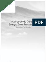 Avaliação do Selo de Energia Solar Fotovoltaica - Público em geral