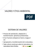 VALORES Y ÉTICA AMBIENTAL