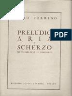 Preludio Aria e Scherzo Per Tromba e Pianoforte (Parti Pianoforte)