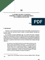 La Teoría Teatral Clasicista. Unidades, Catarsis y Acción Discursiva en la Berenice de Racine