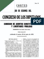 Diario de sesiones del congreso (comisión de asuntos constitucionales y libertades publicas)