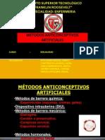 metodos anticonceptivos artificiales