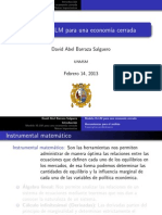 Modelo is-LM Para Una Economia Cerrada