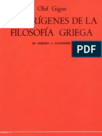 Gigon Olof-Los Origenes de La Filosofia Griega -De-Hesiodo-A-Parmenides