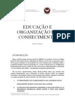 EDUCAÇÃO E ORGANIZAÇÃO DO CONHECIMENTO