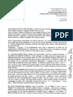 Settembre 2012 Giorno 11 Lettera Fax Della Dott Patrizia Foiani Alla Dott Marando e Avv Rustico