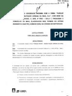 """Estatutos da """"Parque Maior - Reabilitação Urbana da Maia, S A"""