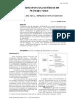 Requisitos Funcionais e Fisicos de Uma Protese Total