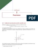 2.5 Gráfica de una función real de variable real