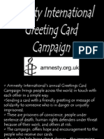 Amnesty International Greeting Card Campaign