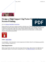 Design a High Impact Gig Poster Suitable for Screen-Printing - PSDTUTS