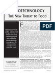 Nanotechnology - the New Threat to Food