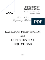 Laplace Transform and Differential Equations