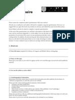ELT Authors Questionnaire