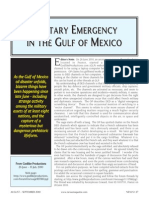 Military Emergency in the Gulf of Mexico