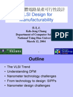 VLSI Design for Manufacturability