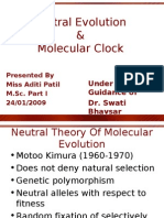 Neutral Evolution and Molecular Clocks