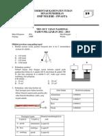 Soal pengawas tryout Ujian Nasional IPA SMP Tipe 19