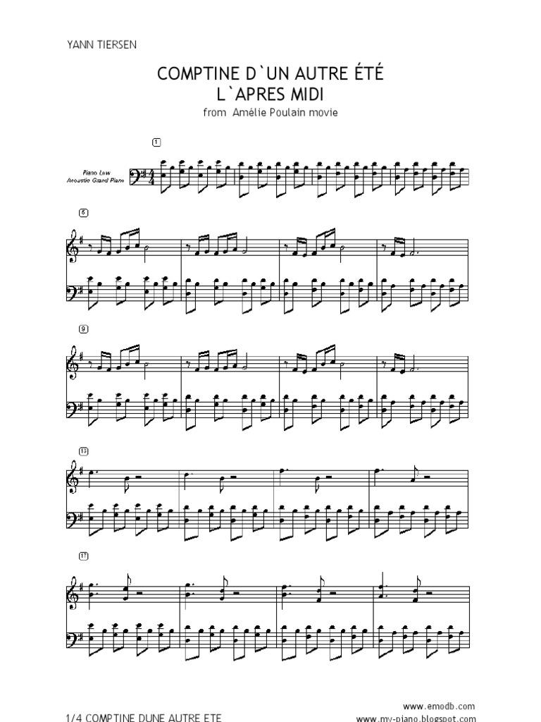 Welt gitarre der fabelhafte die amelie noten Amelie noten