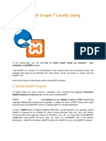 How to Install Drupal 7 Locally