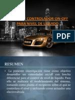 DISEÑO DE CONTROLADOR ON-OFF PARA NIVEL DE LÍQUIDO