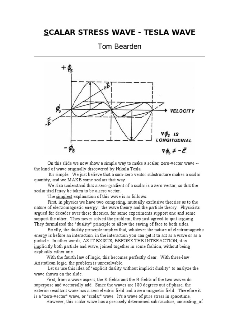 Scalar Stress Wave Tesla Tom Bearden Photon Waves Rodin Coil Diagram