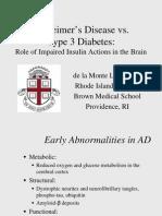 Alzheimers vs Diabetes