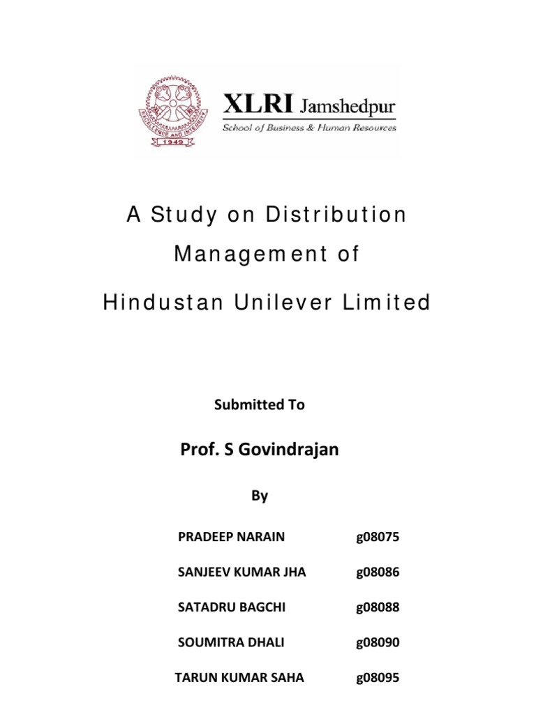 distribution management of hindustan unilever ltd.   retail, Presentation templates