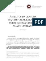 ASPECTOS DA CENSURA INQUISITORIAL EXERCIDA SOBRE AS CENTÚRIAS DE AMATO LUSITANO