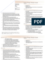 Take-Home Study Guide