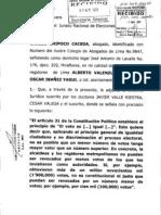CONSULTA DEL REGIDOR ALBERTO VALENZUELA SOTO AL JNE
