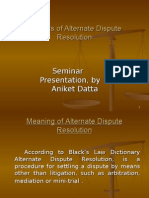 Aniket Datta PPT on Benefits of ADR