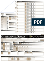 Editable D&D 4E Character Sheet