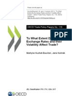 Exchange Rates and Their Votatility