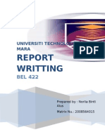 What is Report Writing