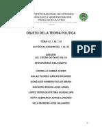 Tema 1 Objeto de La Teoria Politica y Autoevaluacion